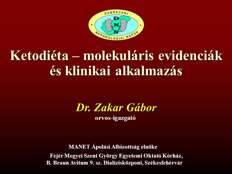 Ketodiéta – molekuláris evidenciák és klinikai alkalmazás