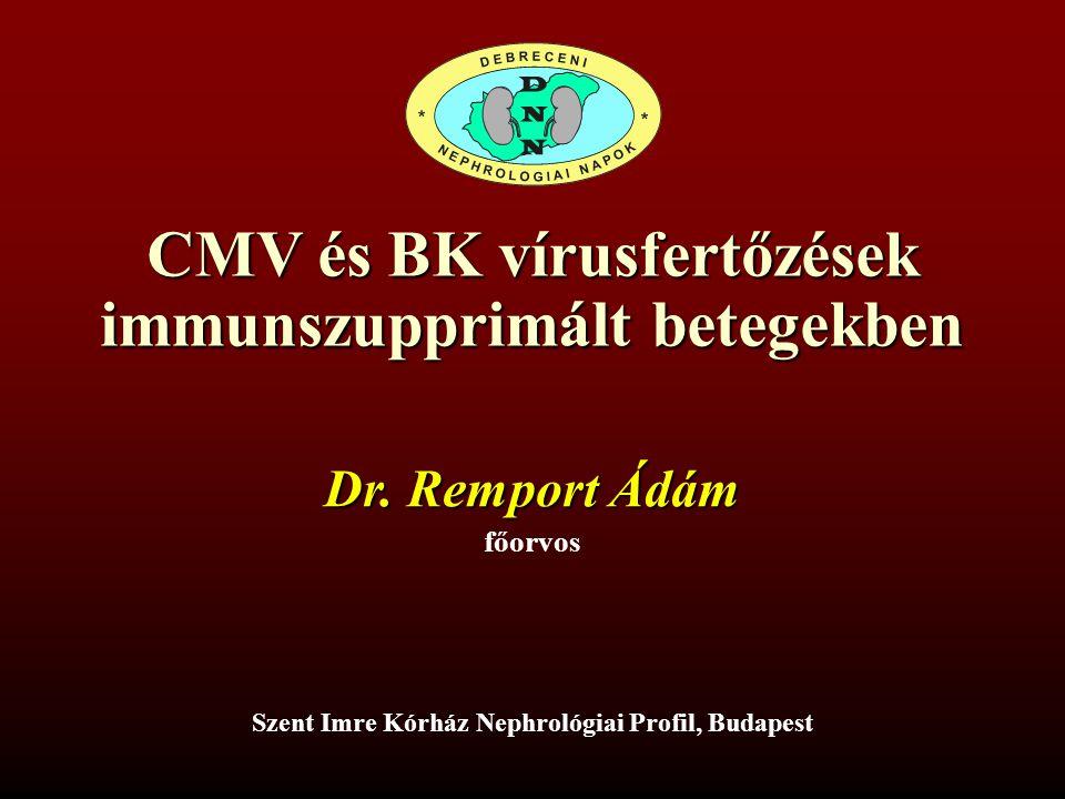 CMV és BK vírusfertőzések immunszupprimált betegekben