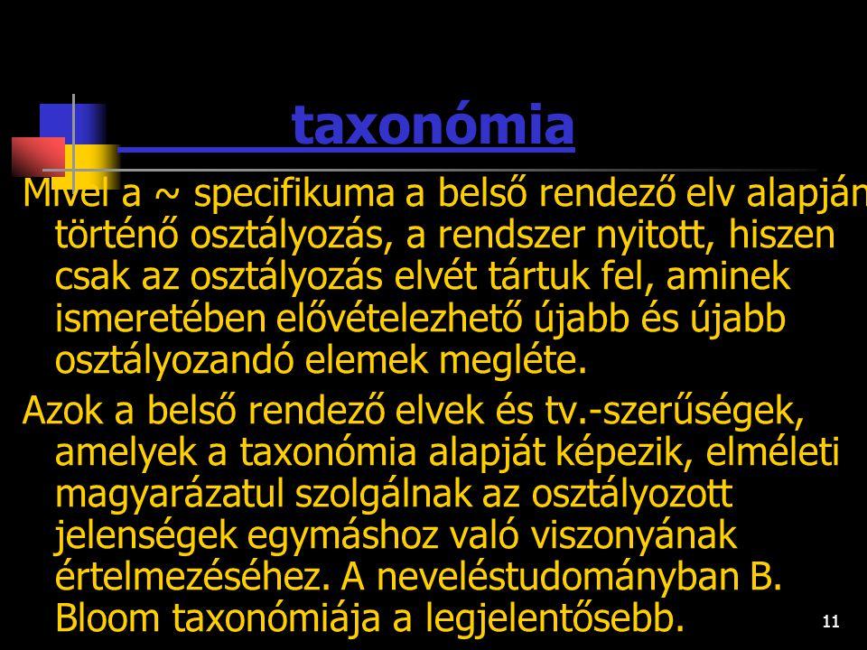 taxonómia