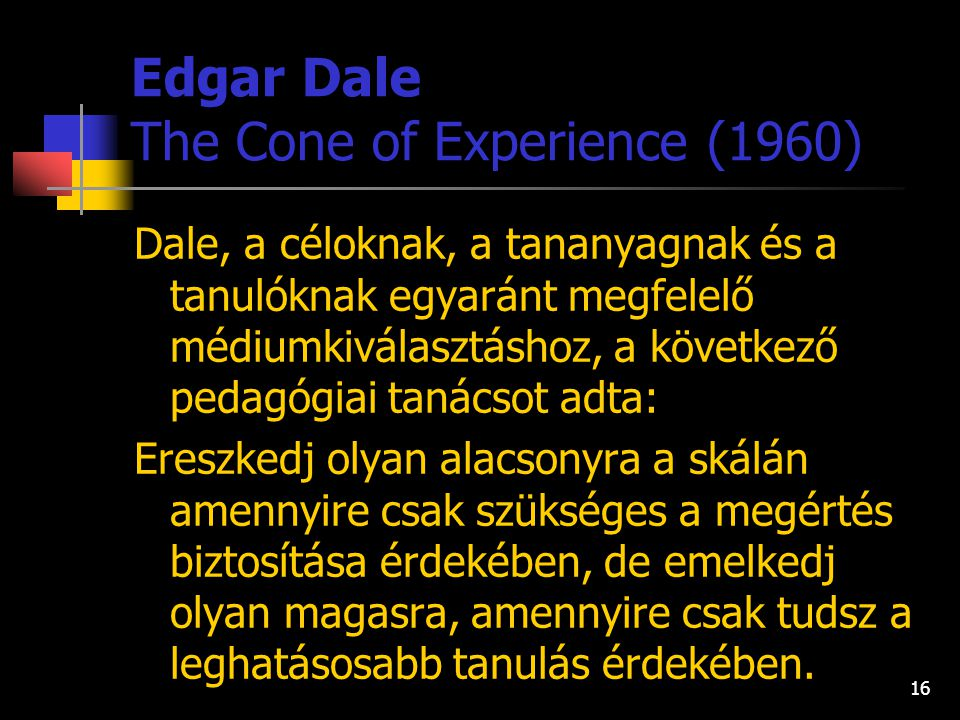 Edgar Dale The Cone of Experience (1960)