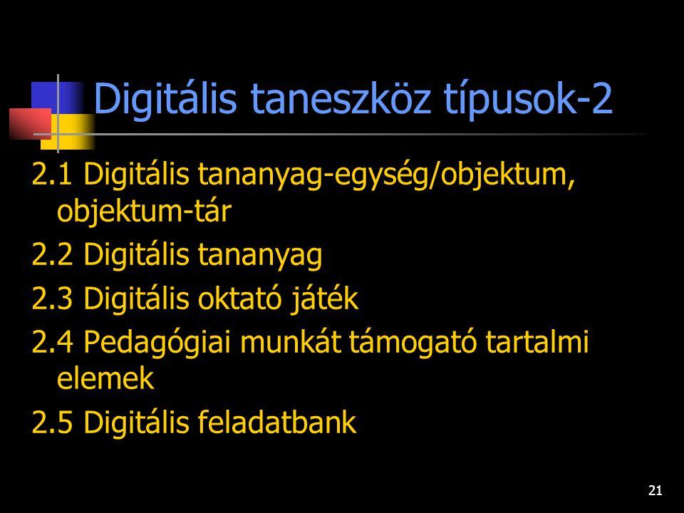 Digitális taneszköz típusok-2