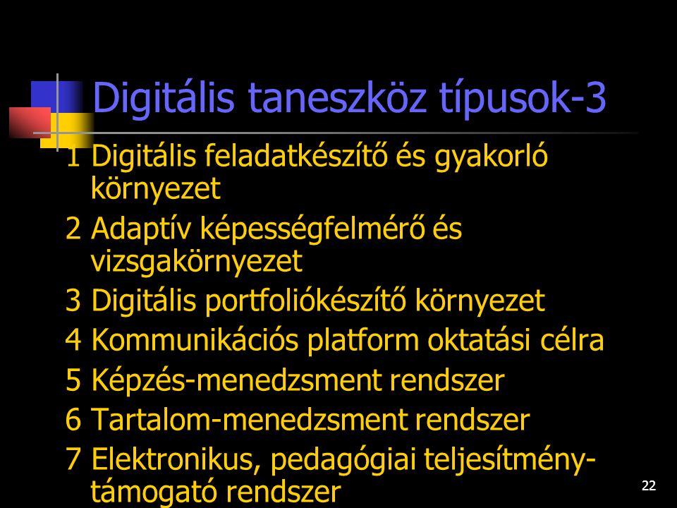 Digitális taneszköz típusok-3