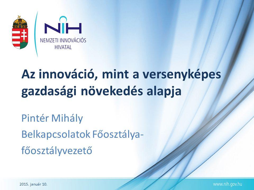 Az innováció, mint a versenyképes gazdasági növekedés alapja