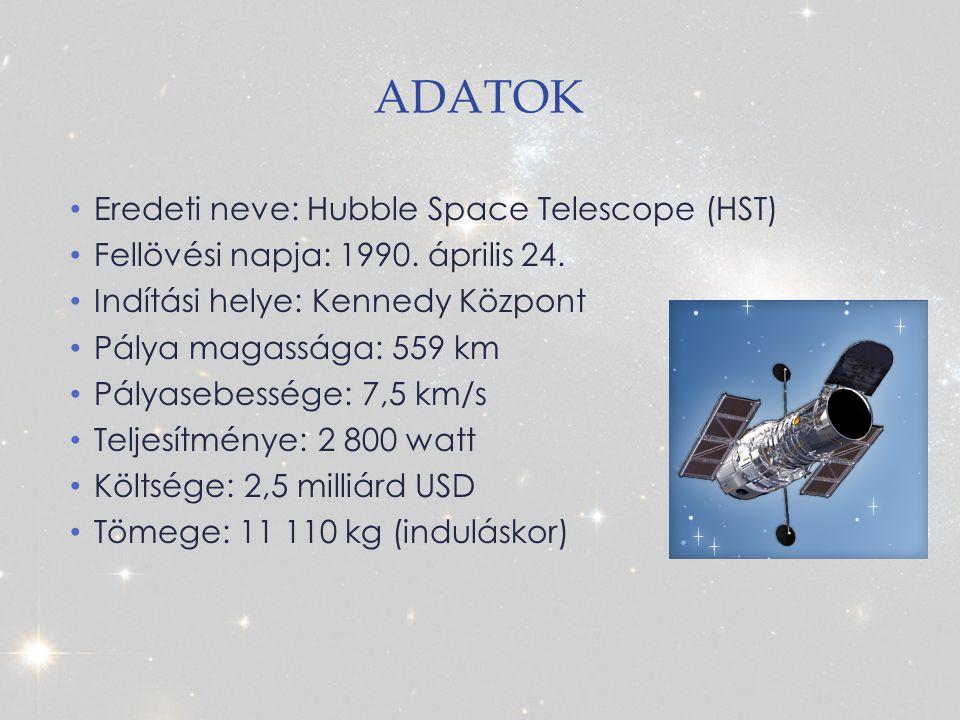 Adatok Eredeti neve: Hubble Space Telescope (HST)
