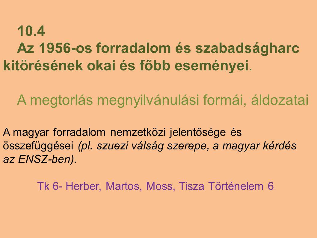 Tk 6- Herber, Martos, Moss, Tisza Történelem 6
