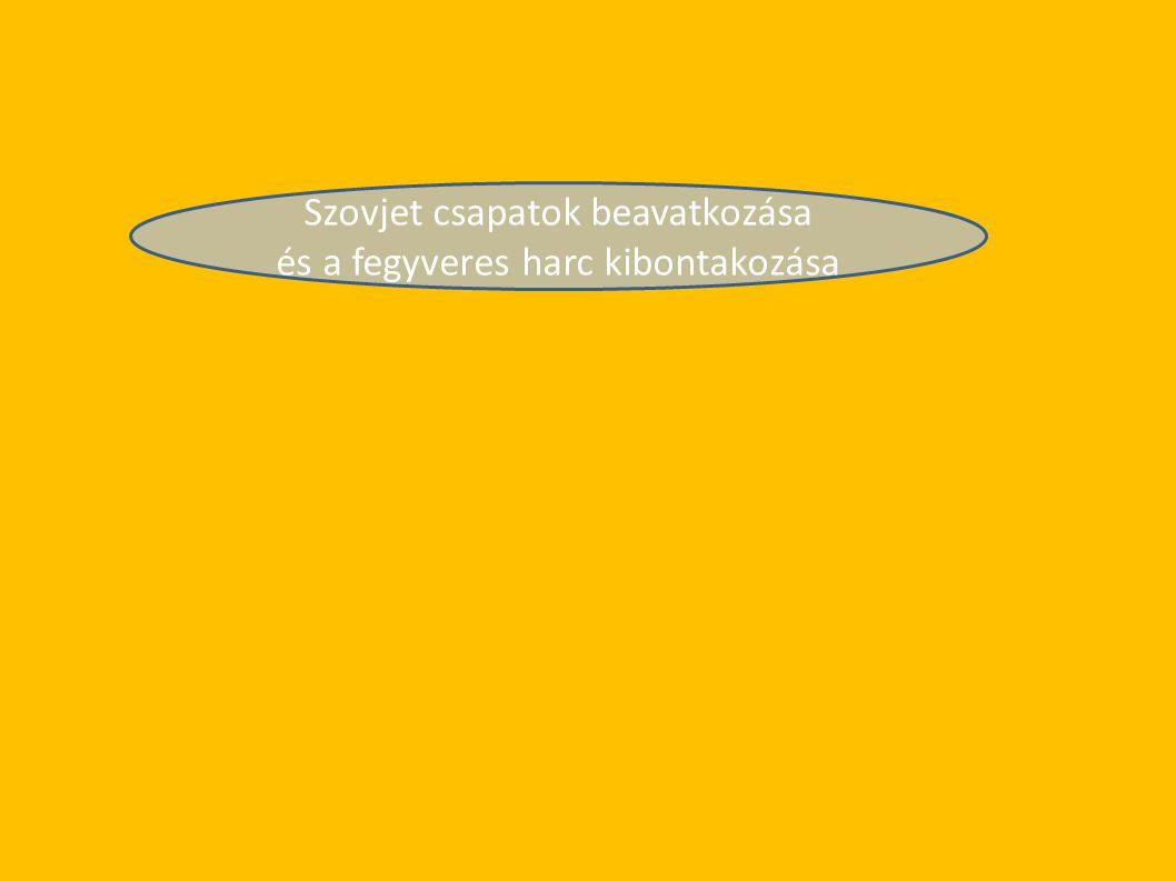 Szovjet csapatok beavatkozása és a fegyveres harc kibontakozása