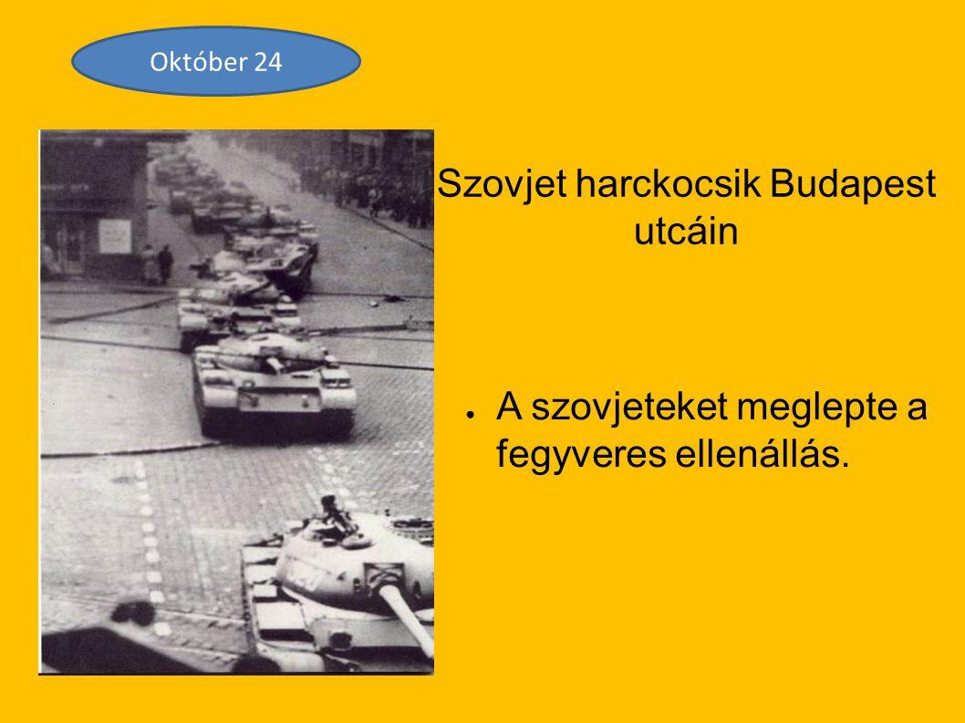 Szovjet harckocsik Budapest utcáin