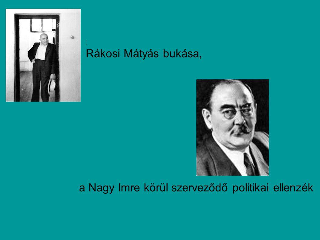 a Nagy Imre körül szerveződő politikai ellenzék