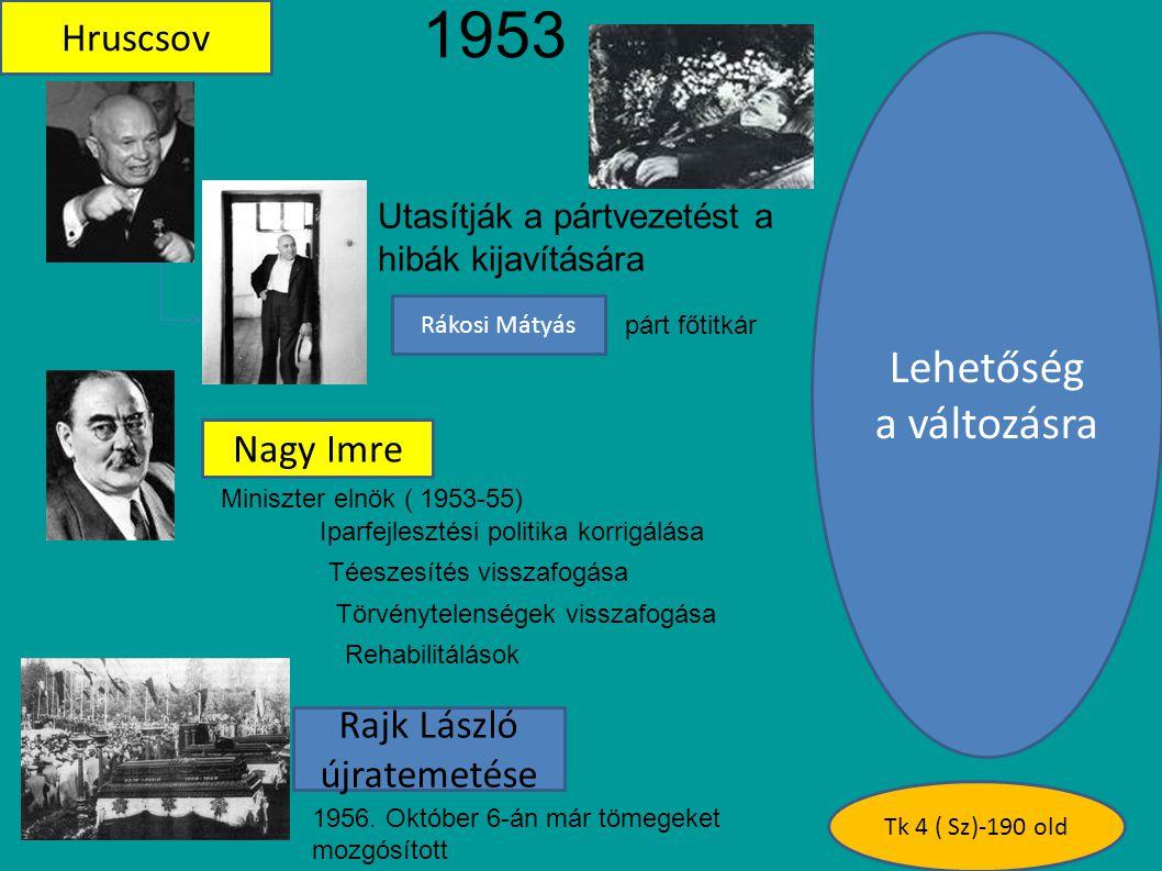 1953 - Lehetőség a változásra Hruscsov Nagy Imre