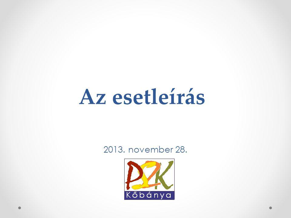 Az esetleírás 2013. november 28.