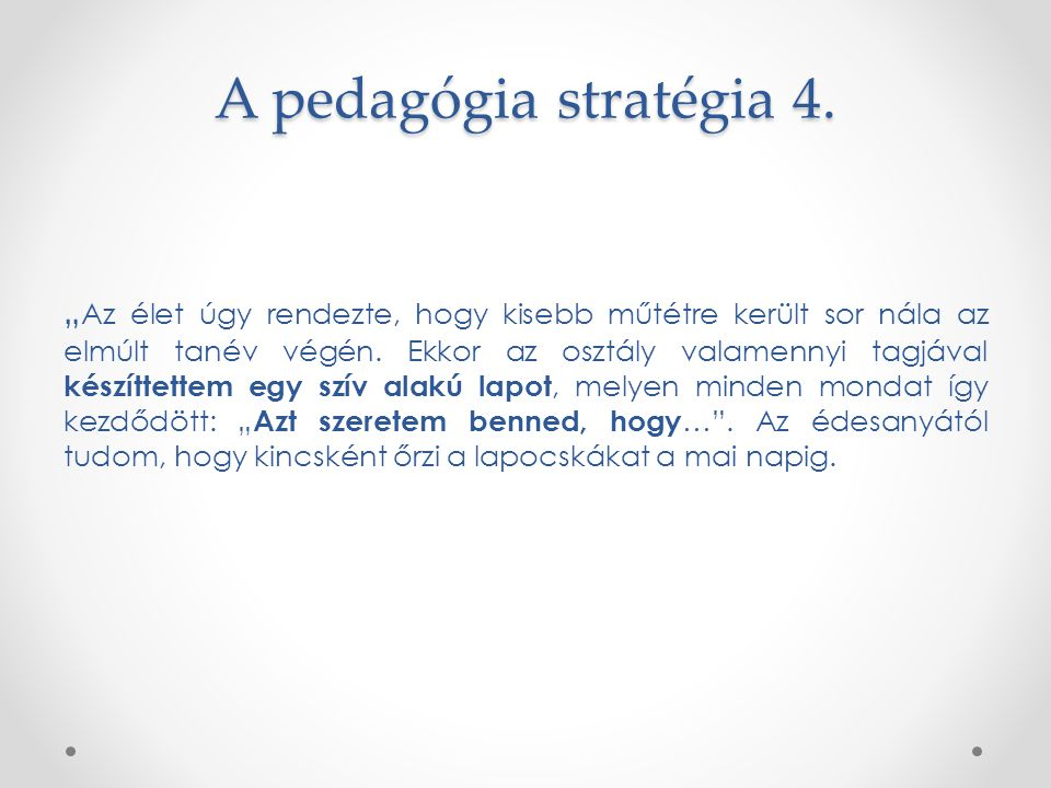 A pedagógia stratégia 4.