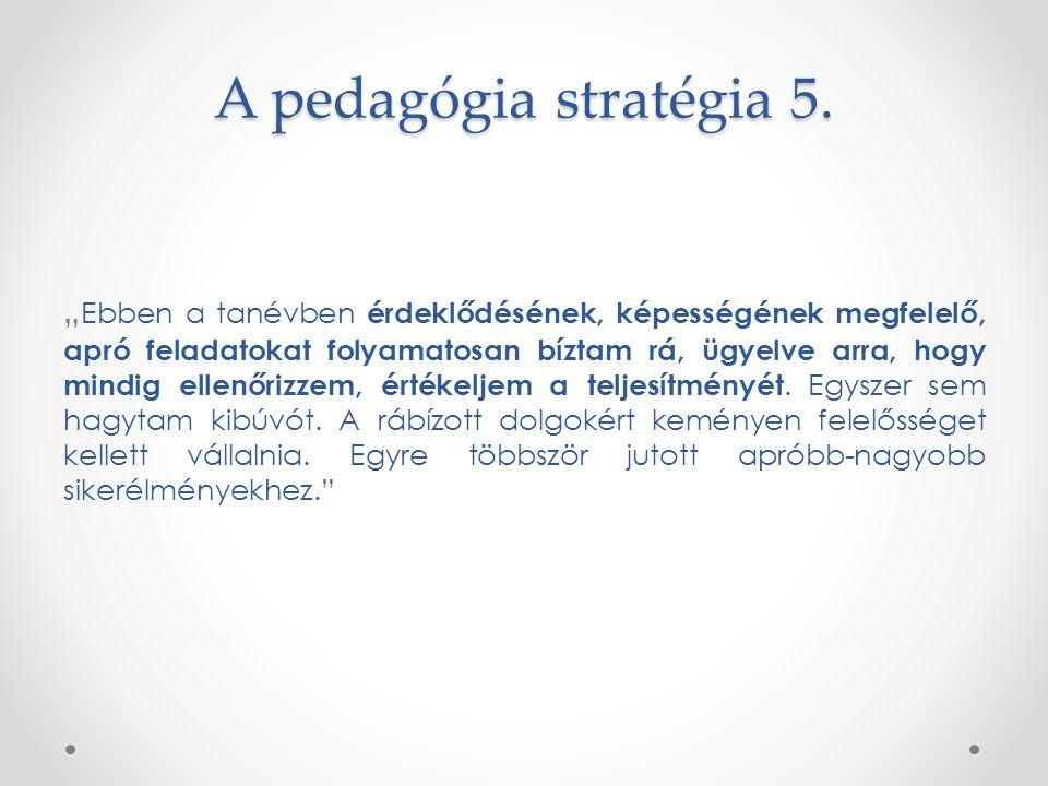 A pedagógia stratégia 5.