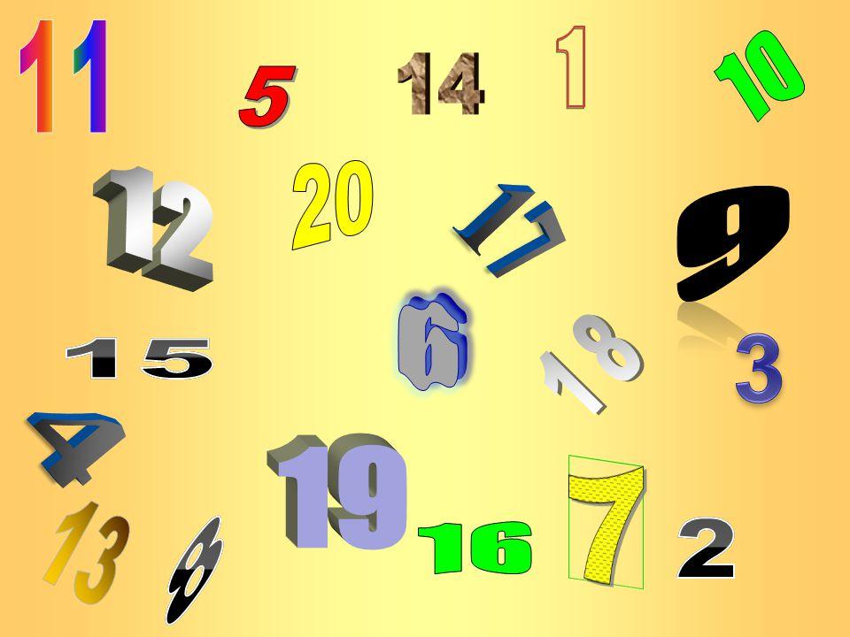 11 1 10 14 5 20 12 9 17 6 3 18 15 4 19 7 13 8 16 2