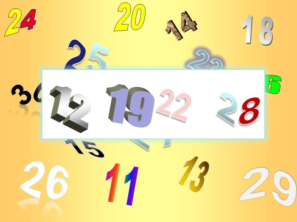 20 24 14 18 25 23 27 16 22 12 19 28 30 21 17 15 13 26 11 29