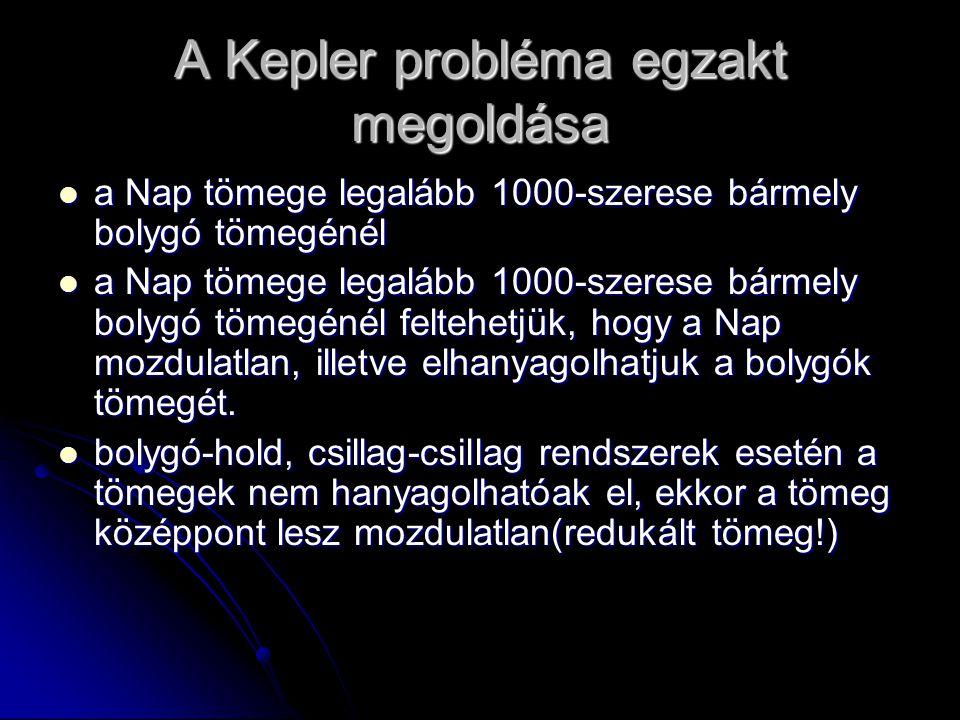 A Kepler probléma egzakt megoldása