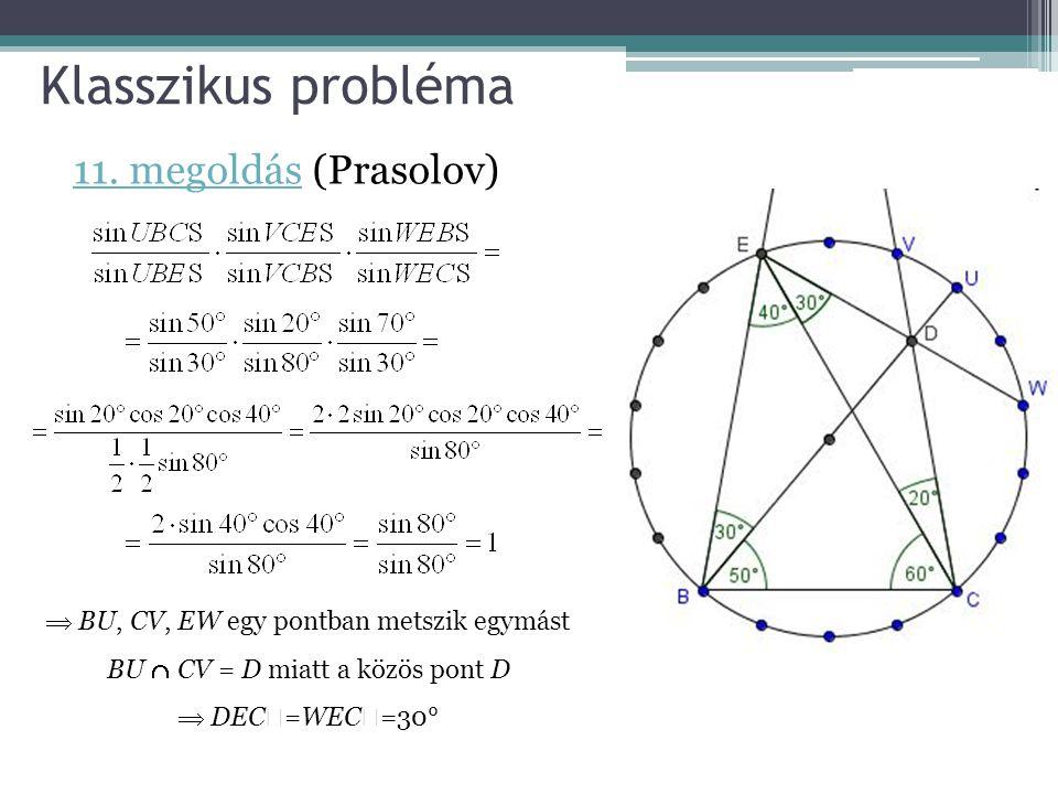 Klasszikus probléma 11. megoldás (Prasolov)