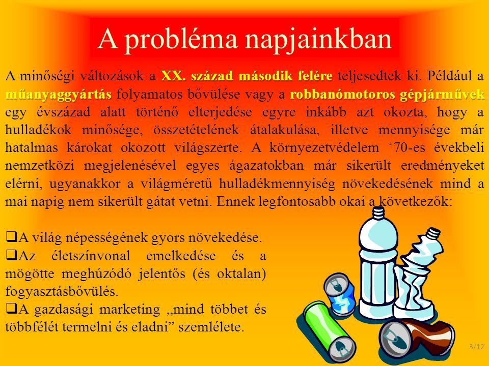 A probléma napjainkban
