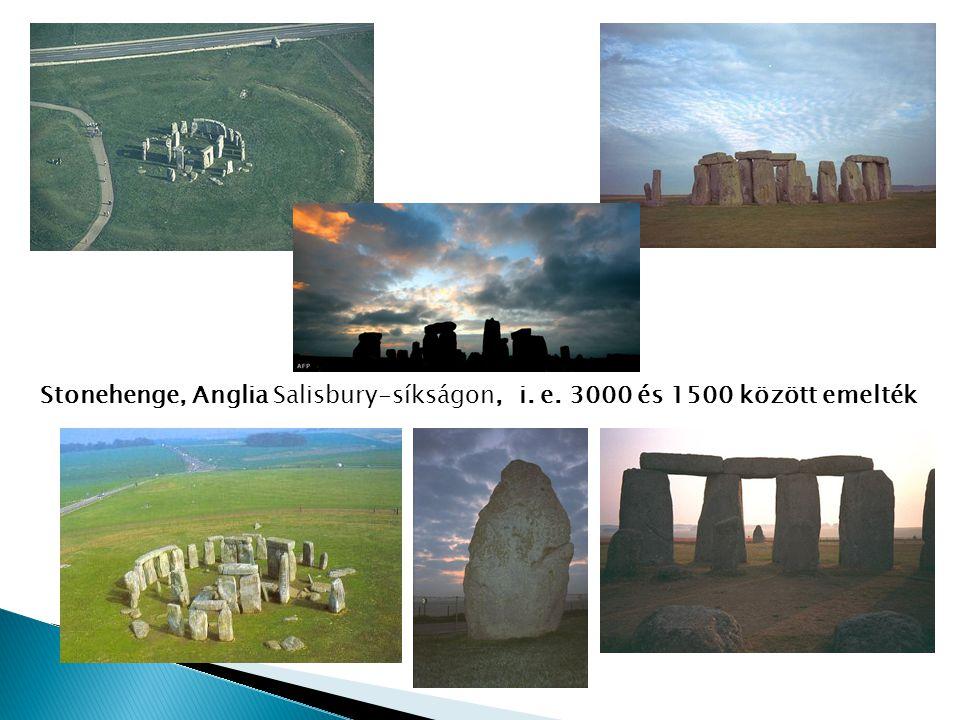 Stonehenge, Anglia Salisbury-síkságon, i. e