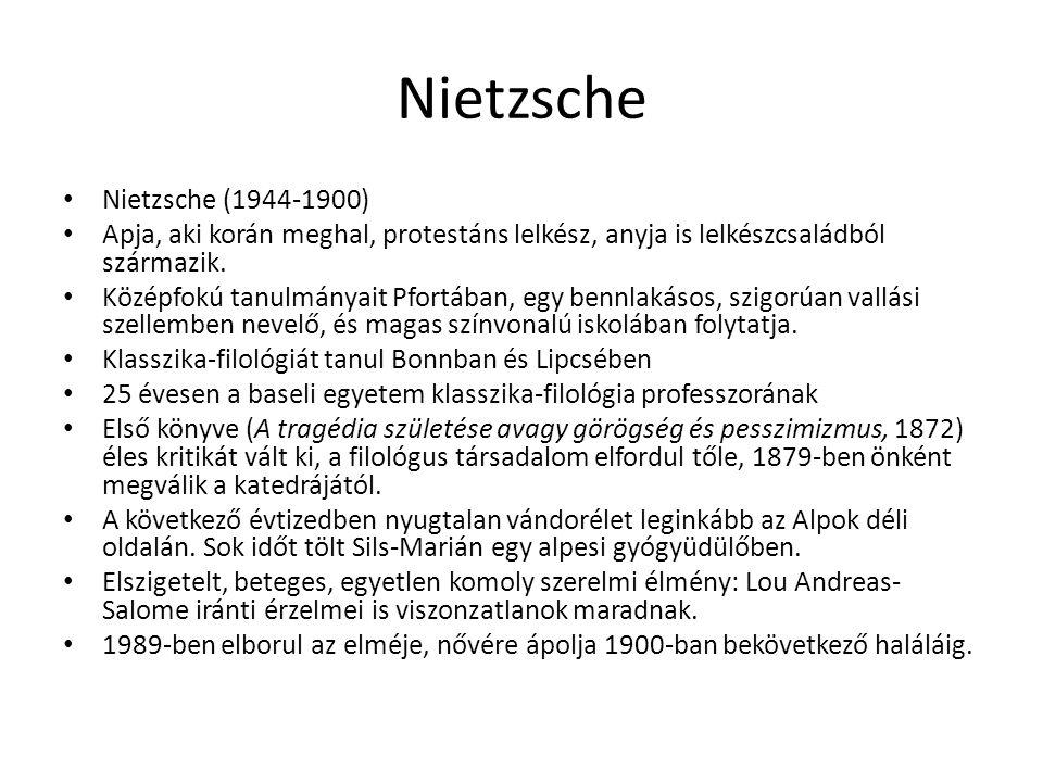 Nietzsche Nietzsche (1944-1900)