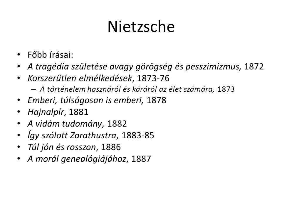 Nietzsche Főbb írásai: