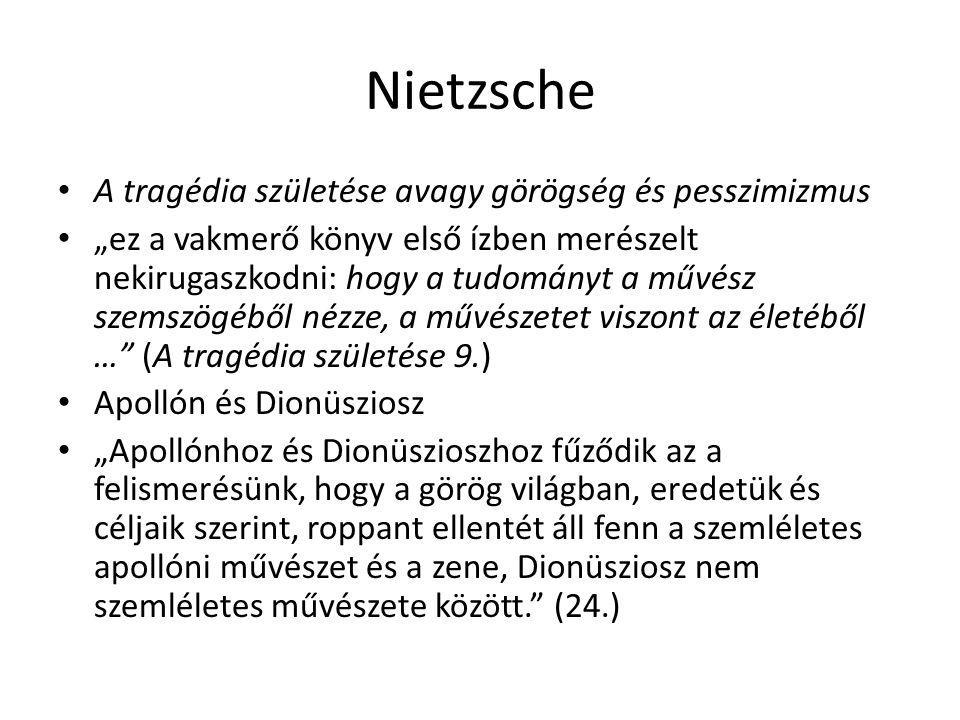 Nietzsche A tragédia születése avagy görögség és pesszimizmus
