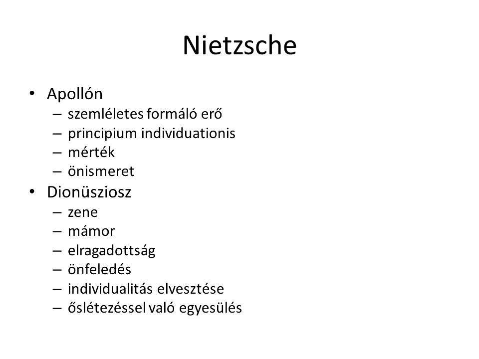 Nietzsche Apollón Dionüsziosz szemléletes formáló erő