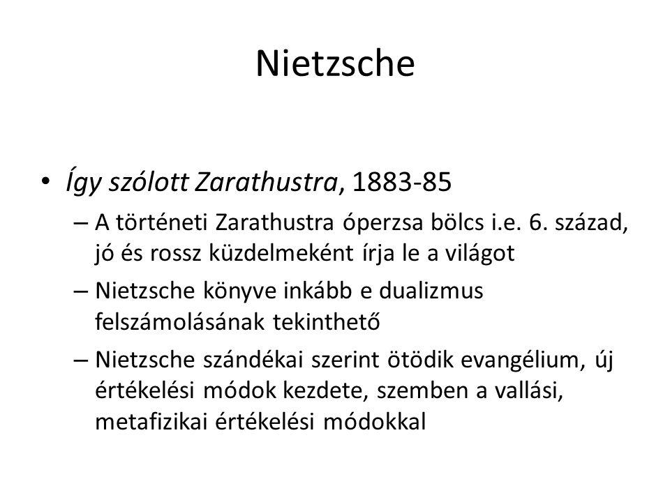 Nietzsche Így szólott Zarathustra, 1883-85