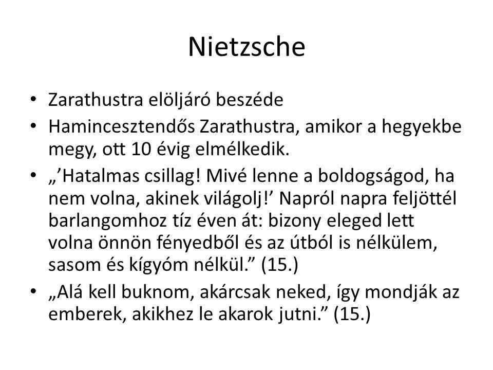 Nietzsche Zarathustra elöljáró beszéde