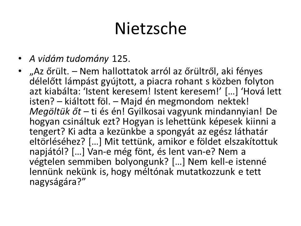 Nietzsche A vidám tudomány 125.