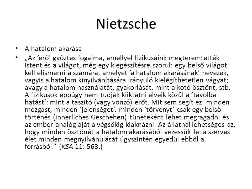 Nietzsche A hatalom akarása