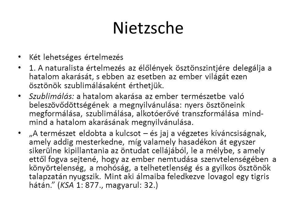 Nietzsche Két lehetséges értelmezés
