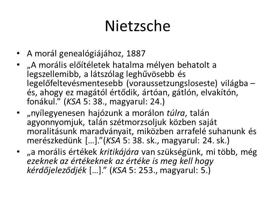 Nietzsche A morál genealógiájához, 1887