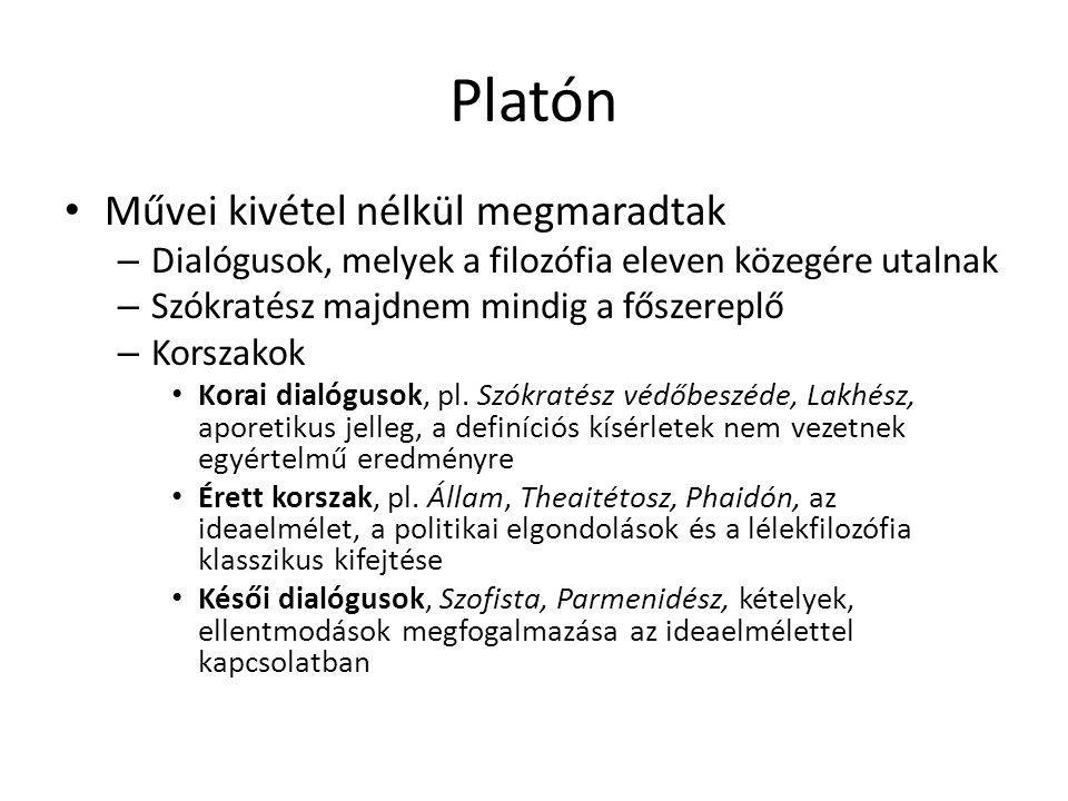 Platón Művei kivétel nélkül megmaradtak