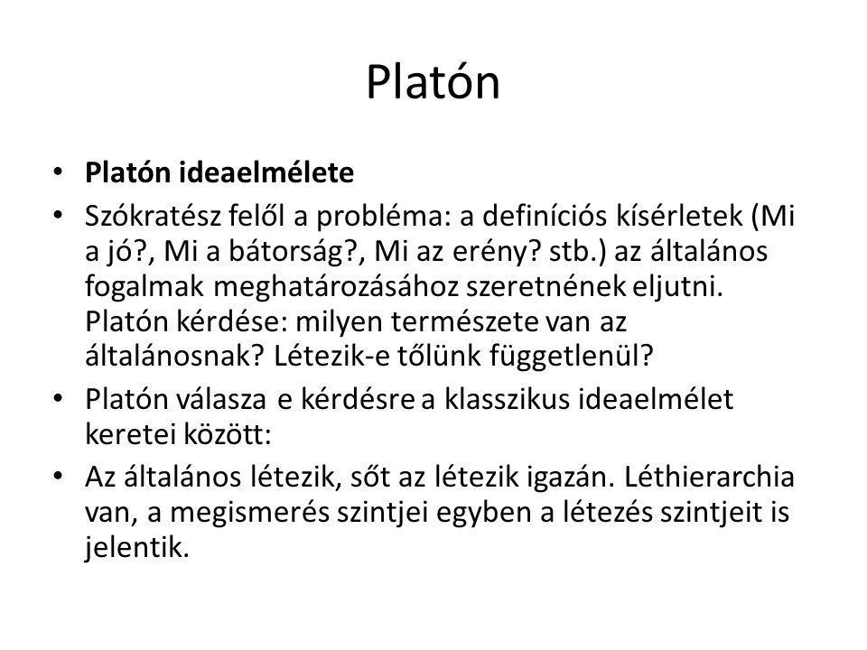 Platón Platón ideaelmélete