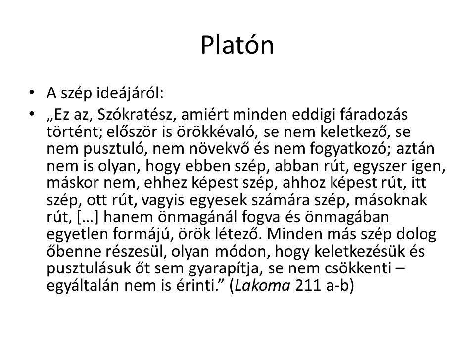 Platón A szép ideájáról: