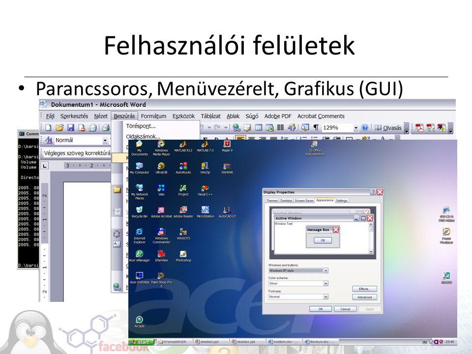 Felhasználói felületek