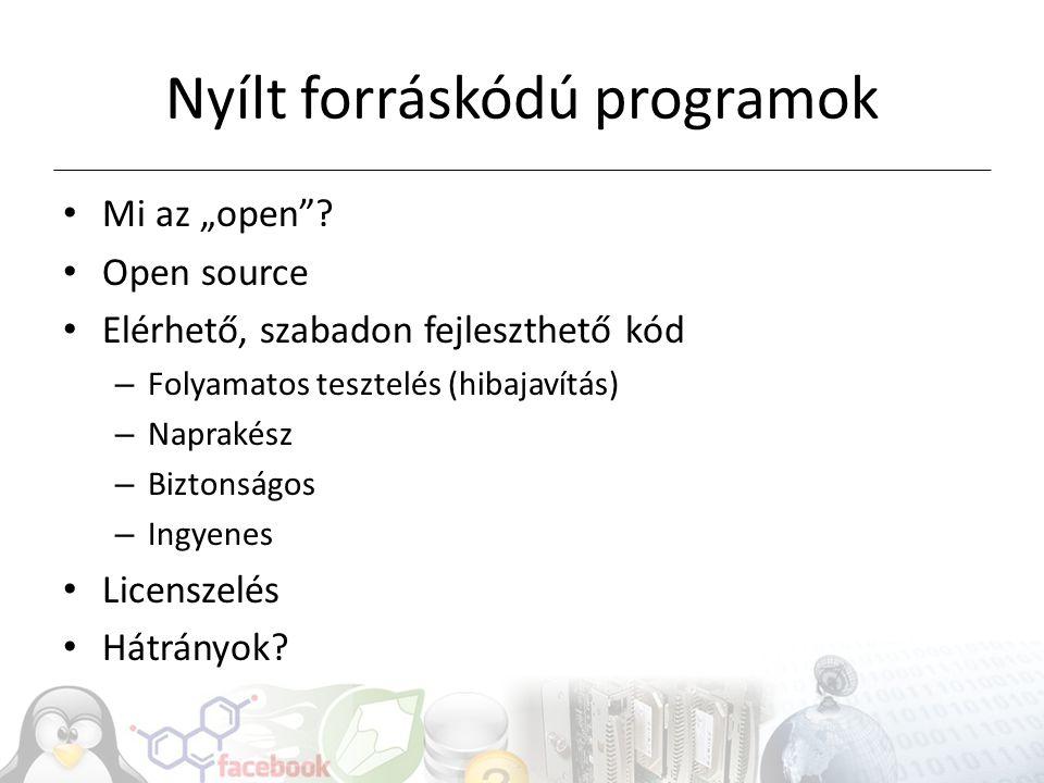 Nyílt forráskódú programok