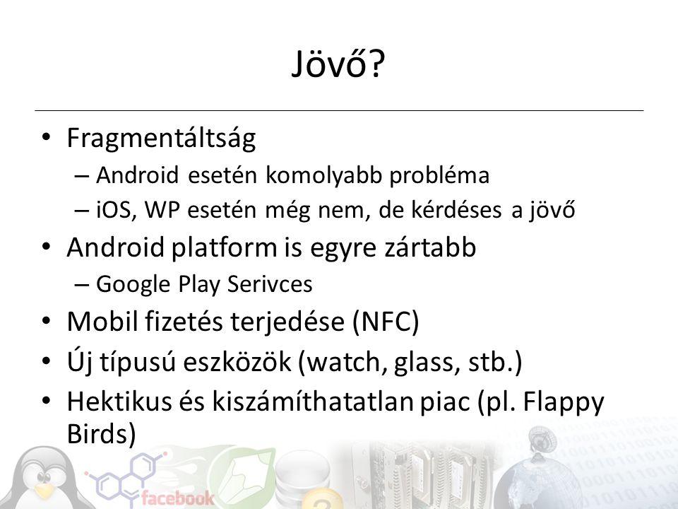 Jövő Fragmentáltság Android platform is egyre zártabb
