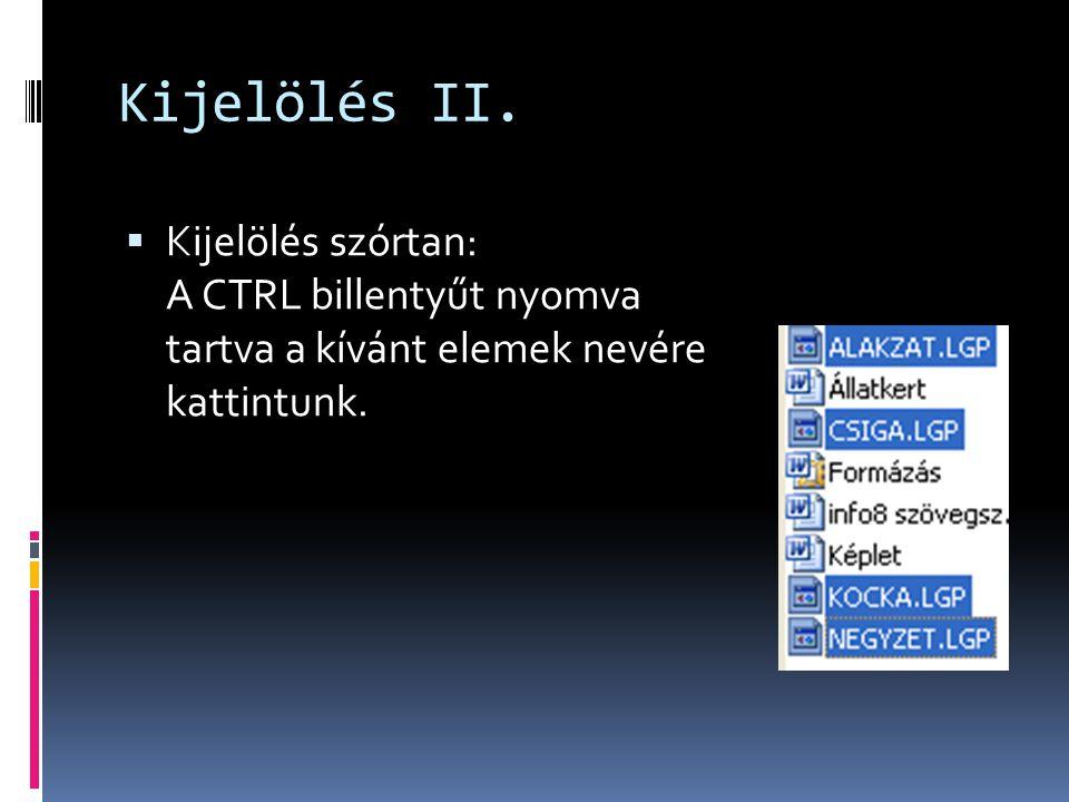 Kijelölés II.