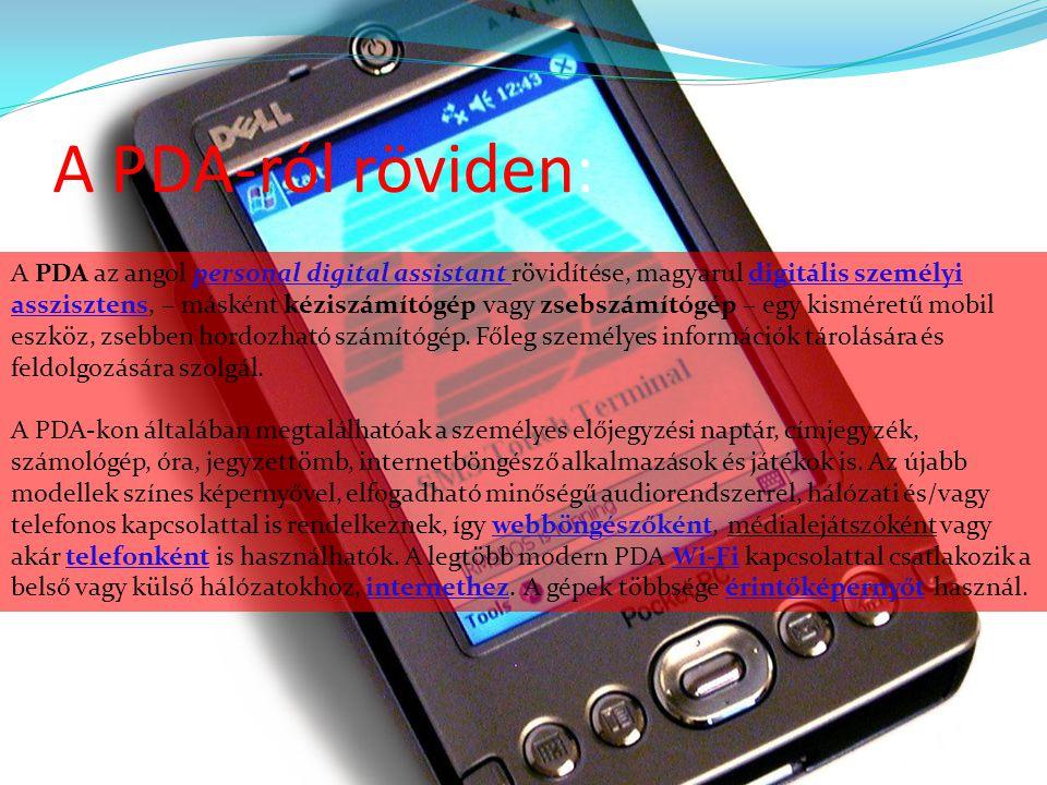 A PDA-ról röviden: