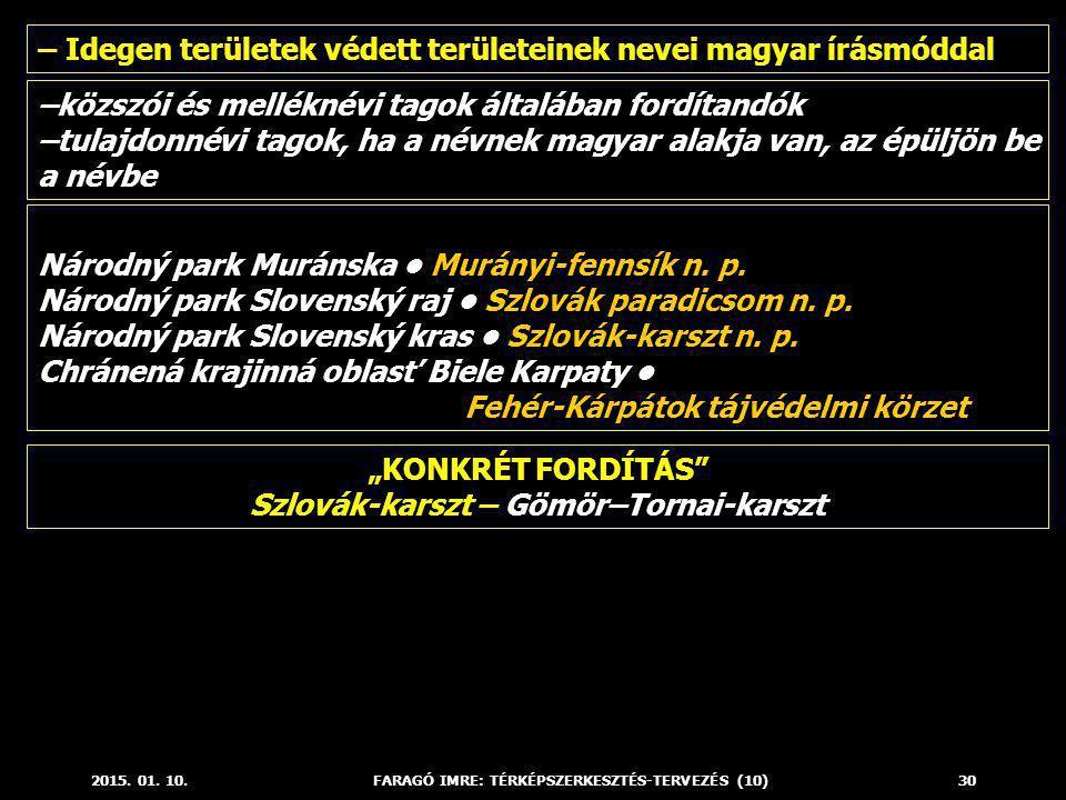 """""""KONKRÉT FORDÍTÁS Szlovák-karszt – Gömör–Tornai-karszt"""