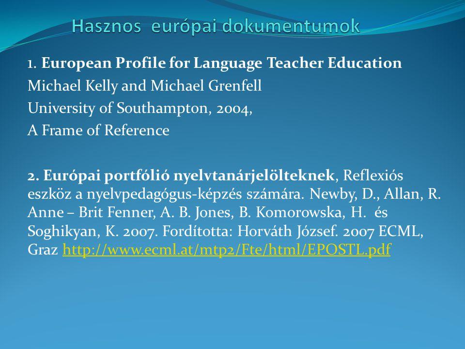Hasznos európai dokumentumok
