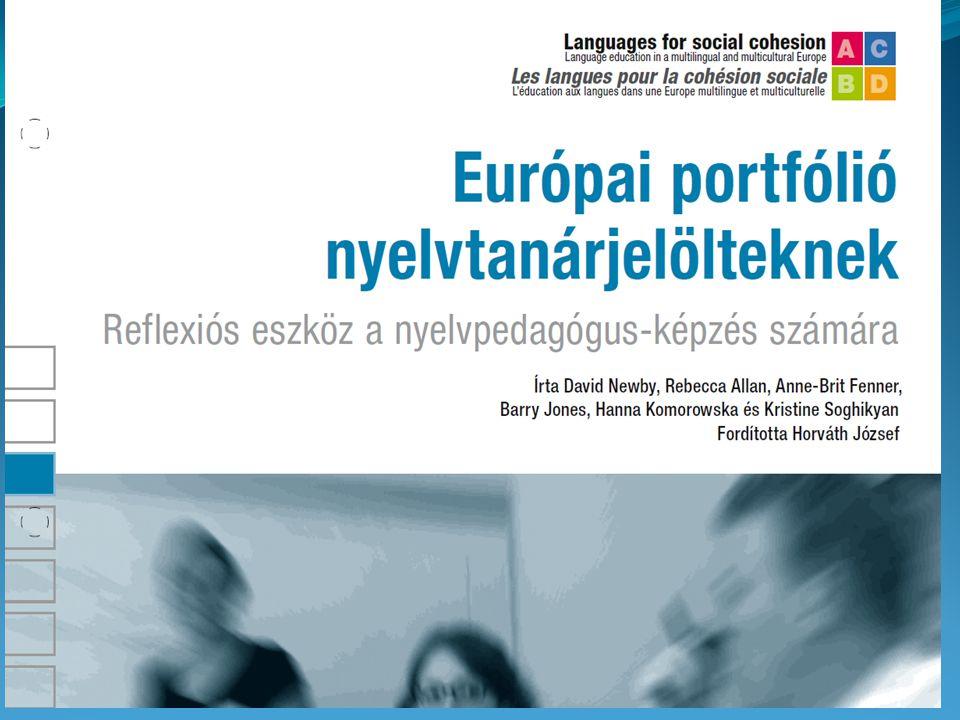 Európai portfólió nyelvtanárjelölteknek című, az Élő Nyelvek Európai Központja, az ECML-CELV tanárképző szakemberei által egy projekt keretében létrehozott kiadványát, amely magyar nyelven is hozzáférhető (Newby et. al. 2007).