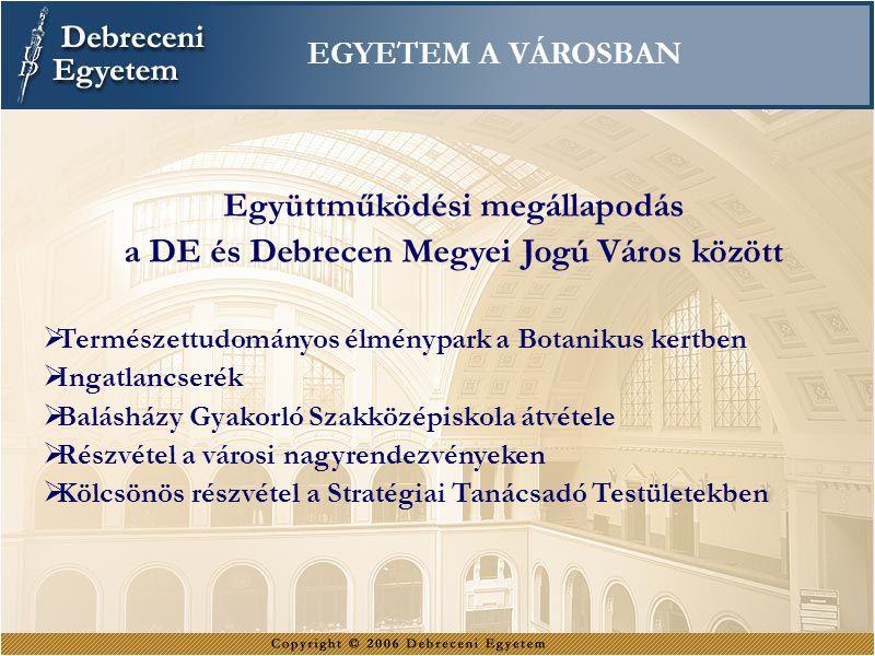 Együttműködési megállapodás a DE és Debrecen Megyei Jogú Város között