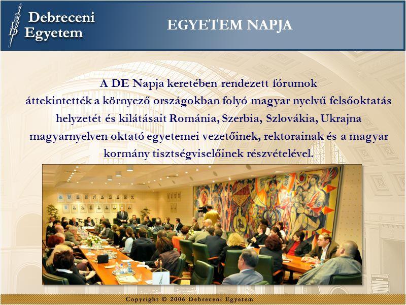 A DE Napja keretében rendezett fórumok