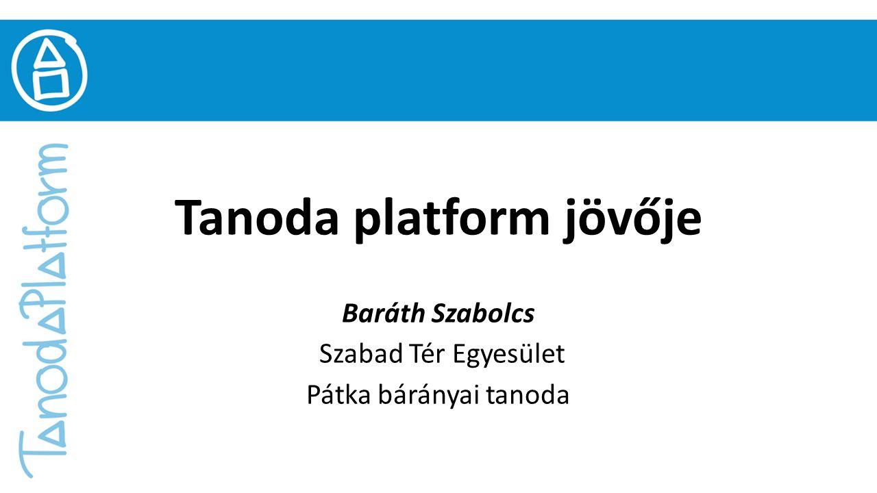 Tanoda platform jövője