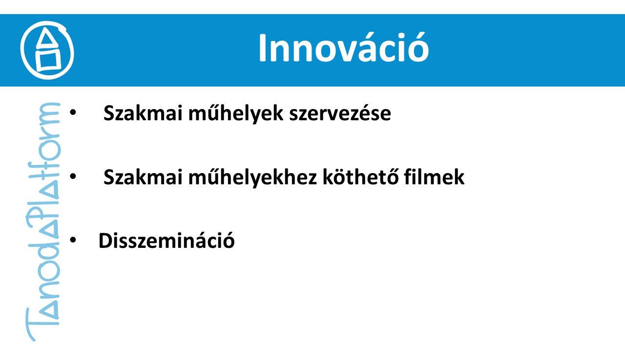 Innováció Szakmai műhelyek szervezése