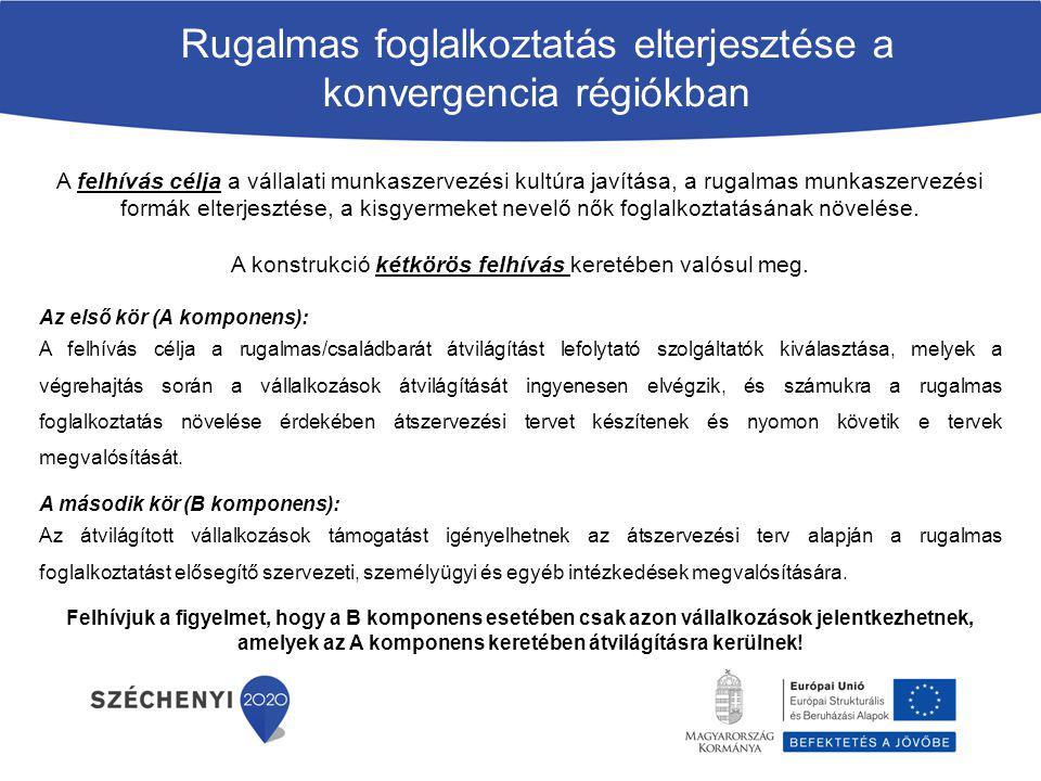 Rugalmas foglalkoztatás elterjesztése a konvergencia régiókban