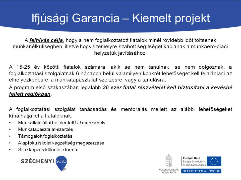 Ifjúsági Garancia – Kiemelt projekt