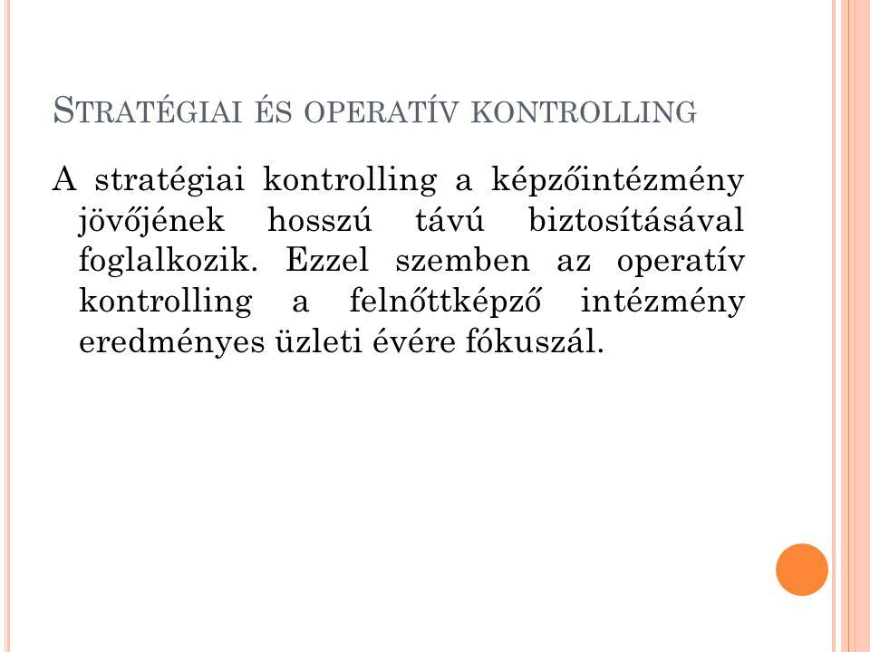 Stratégiai és operatív kontrolling
